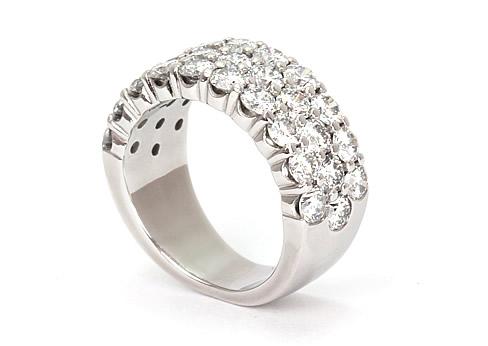 diamond row ring gold 2