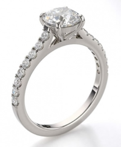 diamond set shoulder engagement rings