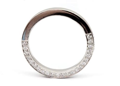 diamond set wedding band