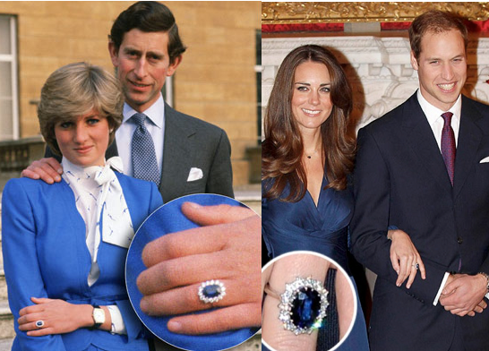 Fit for a Princess - Diana and Kate with the famous sapphire ring