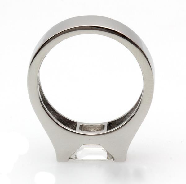 emerald cut diamond ring remount