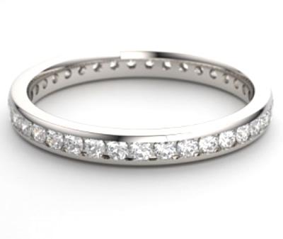 full diamond channel set eternity ring