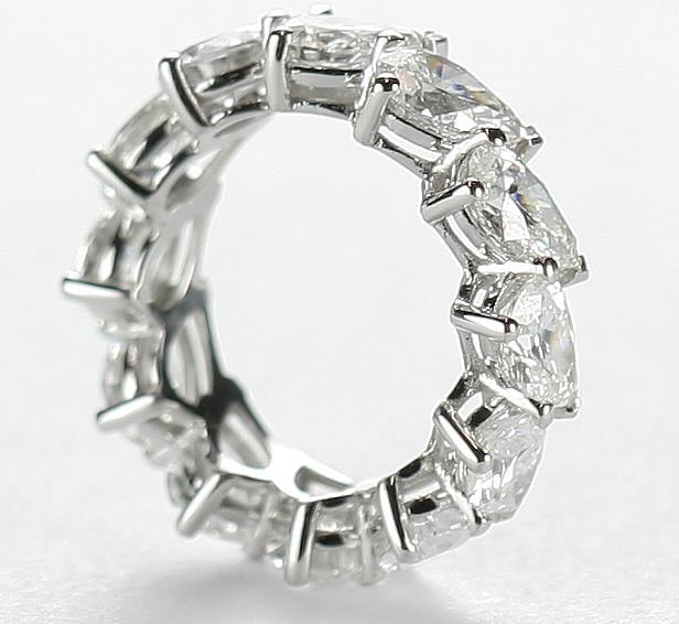 full pear shaped diamond eternity ring