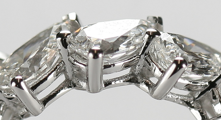 pear shape diamond eternity ring