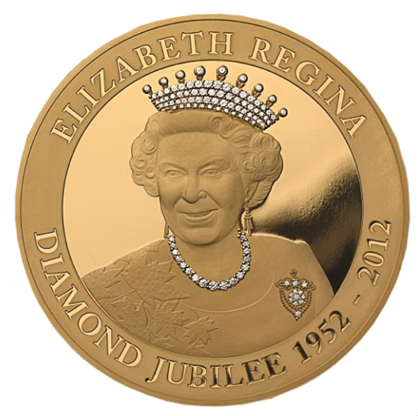 gold queens diamond jubilee coin