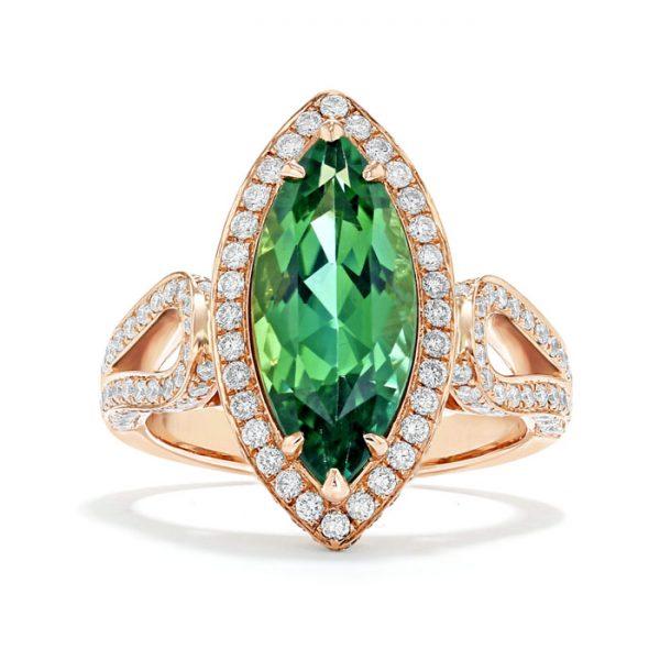 green tourmaline halo
