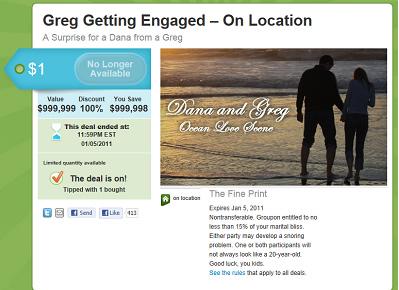 groupon marriage proposal