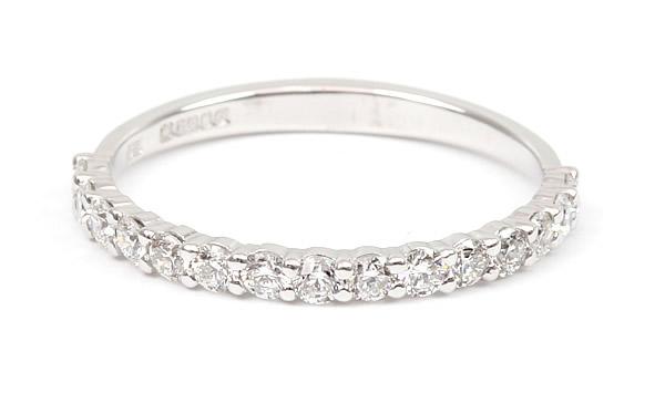 half diamond set eternity ring