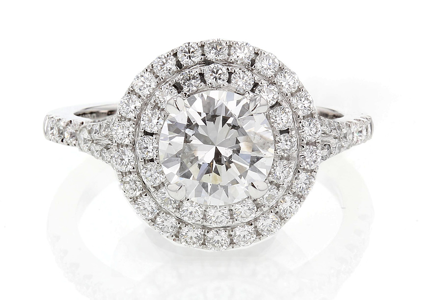 halo diamond engagement ring 1