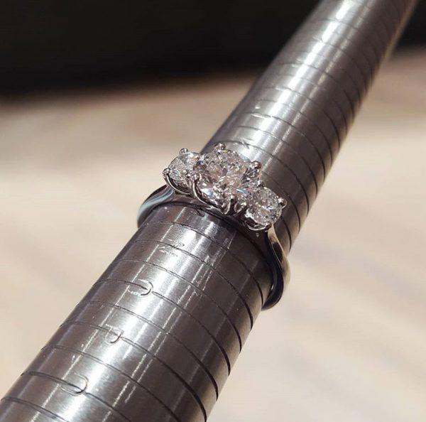Finger sizer for expert guide to diamond engagement rings