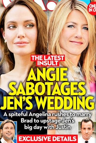 Is Angelina Jolie Plotting Upstage Jennifer Aniston's Dream Beach Wedding?