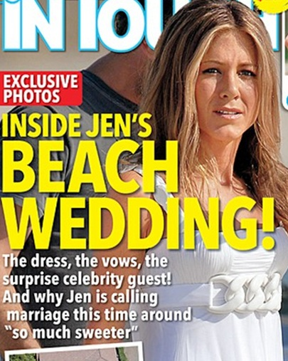 jennifer aniston wedding 2011 on the beach