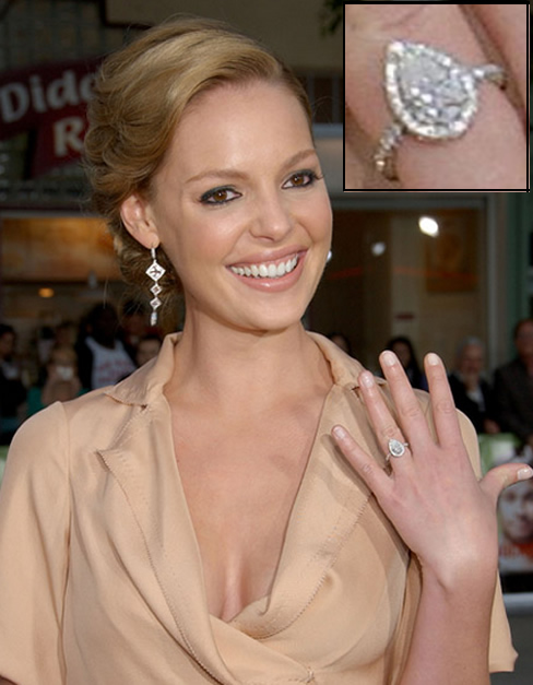 katherine heigl pear shaped diamond engagement ring engagement ring