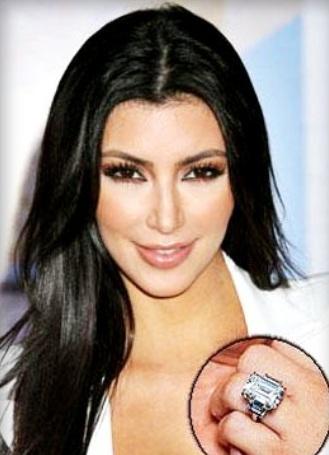 kim kardashian engagement ring