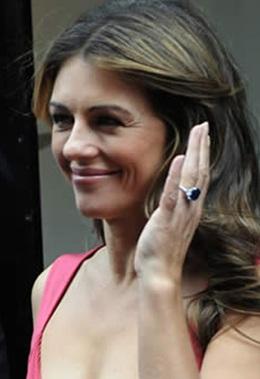 liz hurley saphire engagement ring