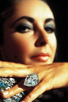 Elizabeth Taylor and the famous Taylor-Burton Diamond