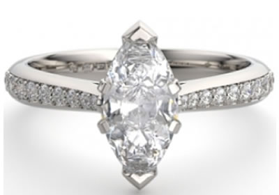 marquise diamond 6-claw setting engagement ring
