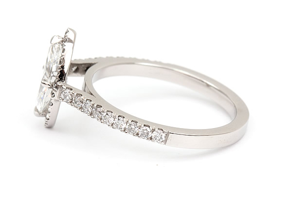 marquise diamond engagement ring halo design