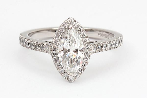 marquise diamond engagement ring shape
