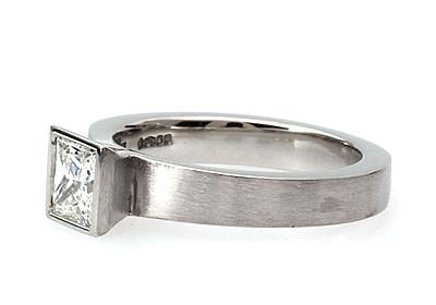 bespoke princess cut engagement ring