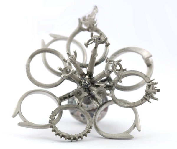 metal cast of jewellery