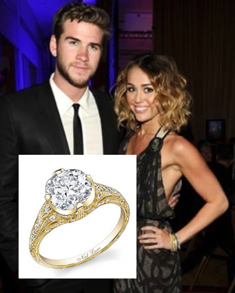 milley cyrus engagement ring