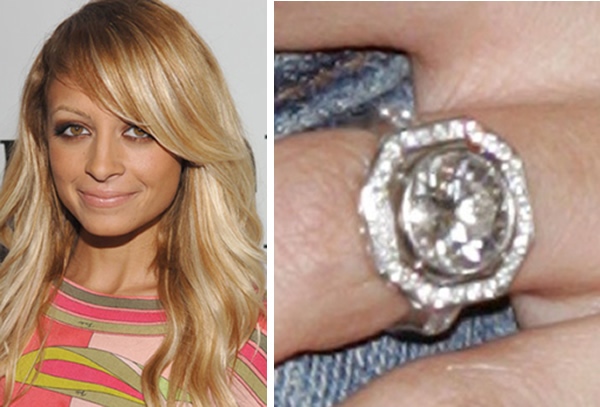 nicole richie round diamond engagement ring