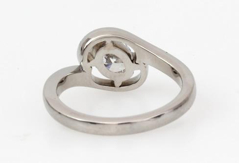 oval shaped bespoke diamond engagement ring