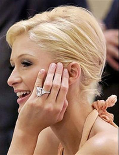 paris hilton engagement ring