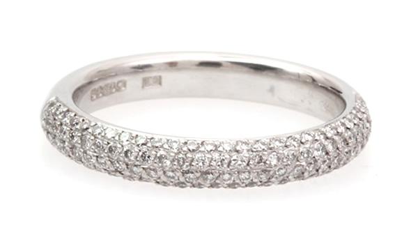 pave diamond wedding ring