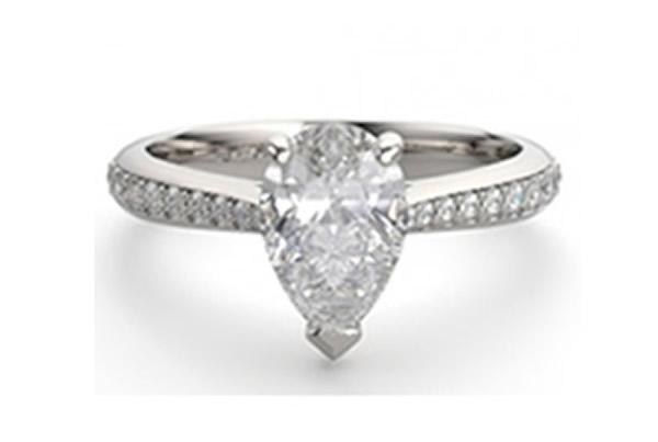 pear diamond engagement ring shape