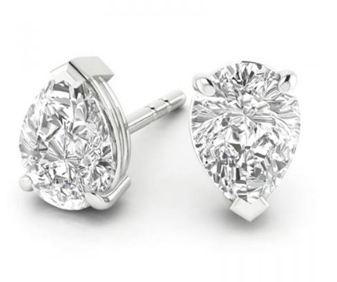 pear shaped diamond stud earrings