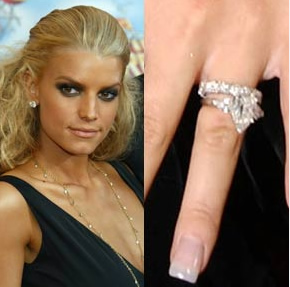 pear shaped engagement ring jessica simpson