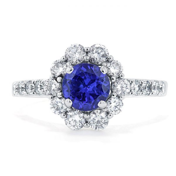 gemstone engagement rings - sapphire