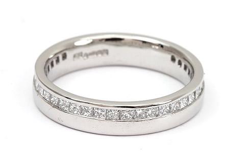 princess cut diamond wedding ring
