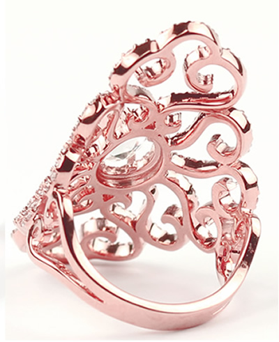 rose gold diamond ring with rose cut diamond