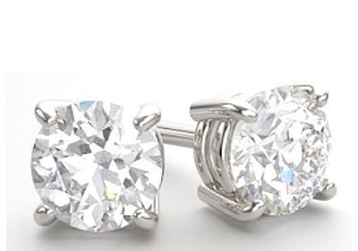 round brilliant cut diamond earrings