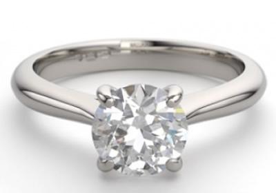 round brilliant cut diamond solitaire engagement rings