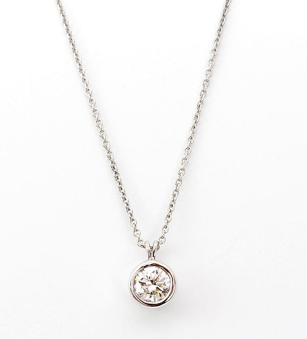 round diamond pendant bezel