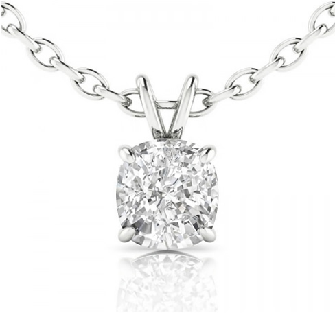 round diamond pendant necklace