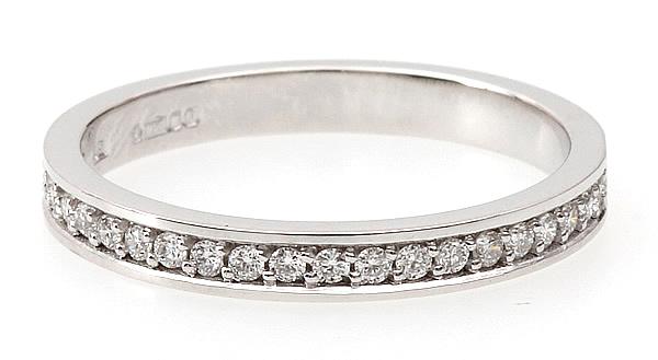 round brilliant cut diamond set eternity ring