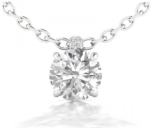 round shaped diamond pendant