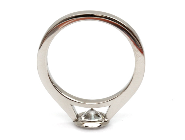 rub over solitaire diamond engagement ring