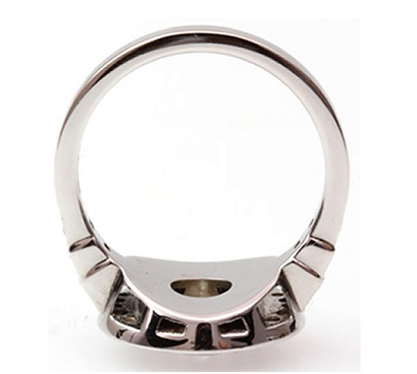 ruby and round diamond bespoke ring