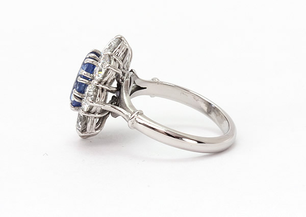 sapphire and diamond ring flower design 2