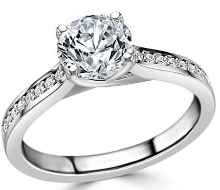 Shoulder Set Engagement Ring