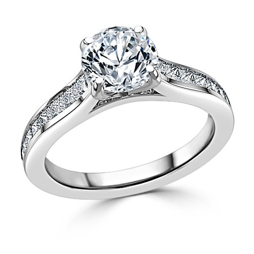 shoulder set engagement ring