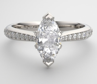 shoulder set white gold engagement ring