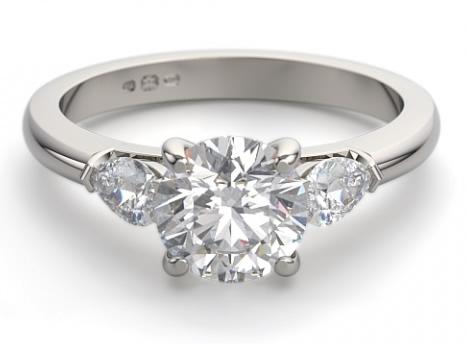 side stone engagement ring setting