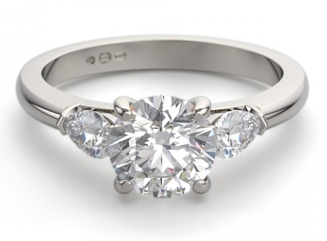 side stone engagement ring setting